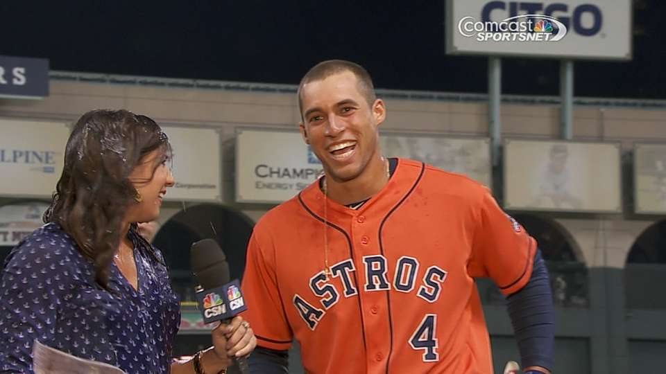 Springer on his walk-off hit
