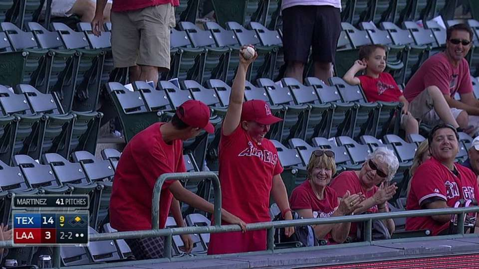Young fan's great catch