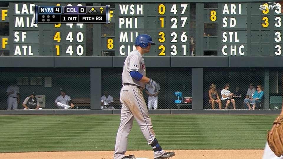 Mets combine for five doubles