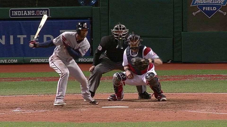 Santana's first Major League hit