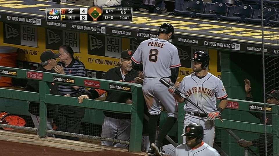 Giants' five-run inning