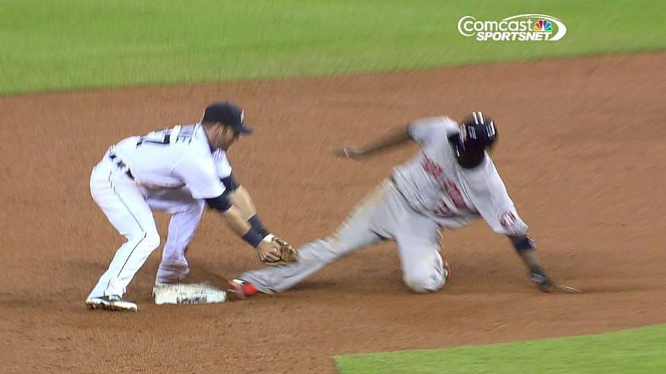 Astros lose challenge at second