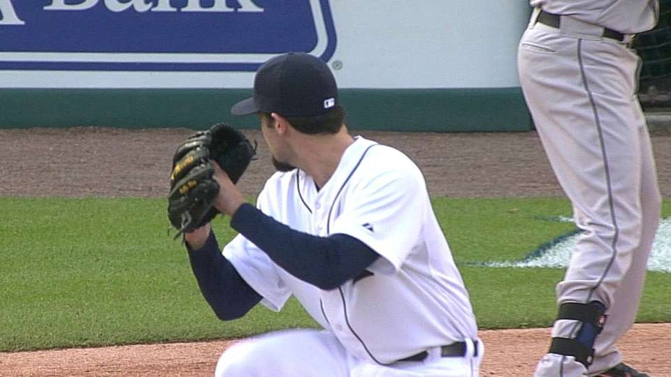Ray's first MLB strikeout