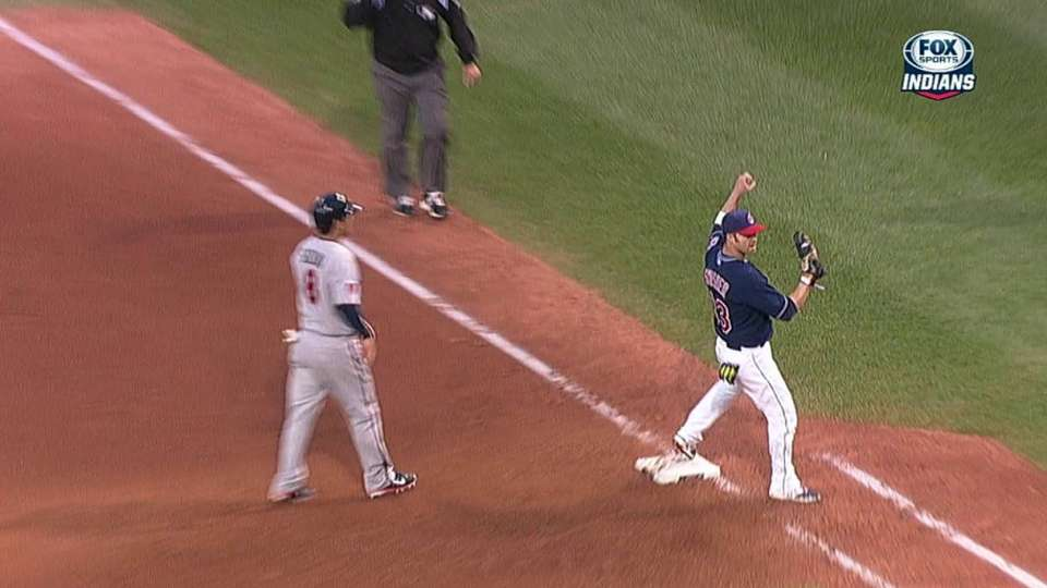 Indians turn double play