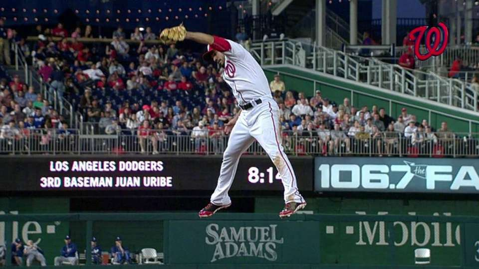 Rendon's leaping grab