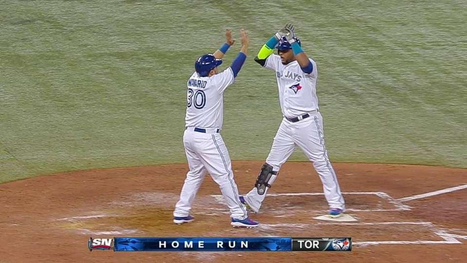 Francisco's two-run homer