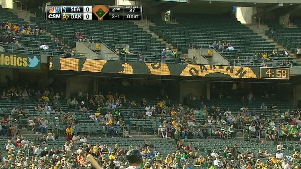 Scoreboard goes out in Oakland