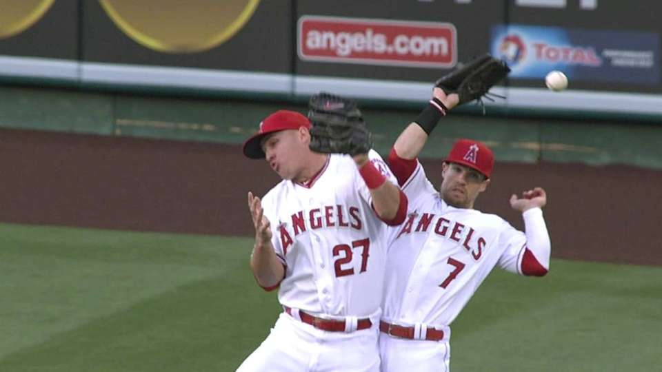 Trout, Cowgill drop the ball