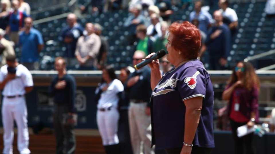 Padres' national anthem singer