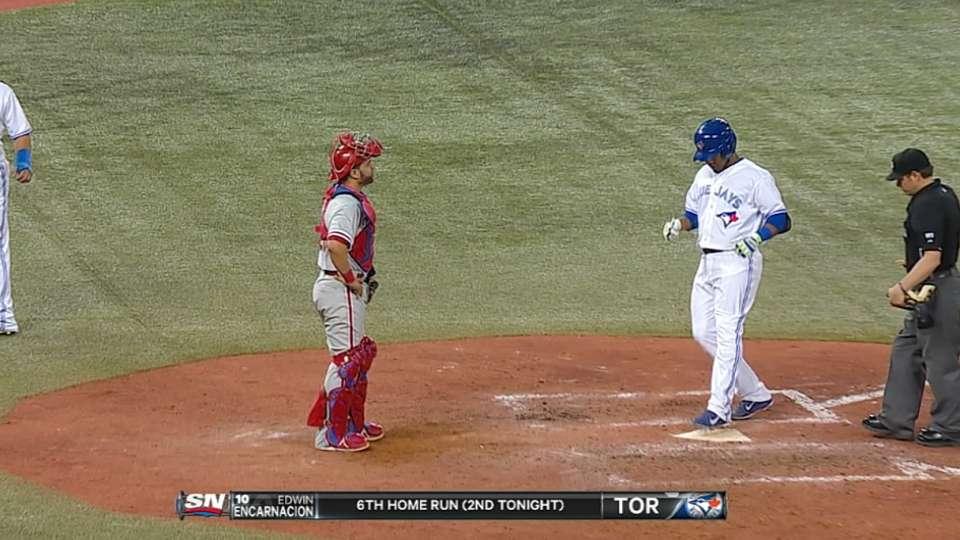 Blue Jays launch five home runs