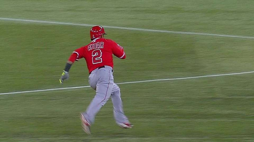 Aybar's triple to right