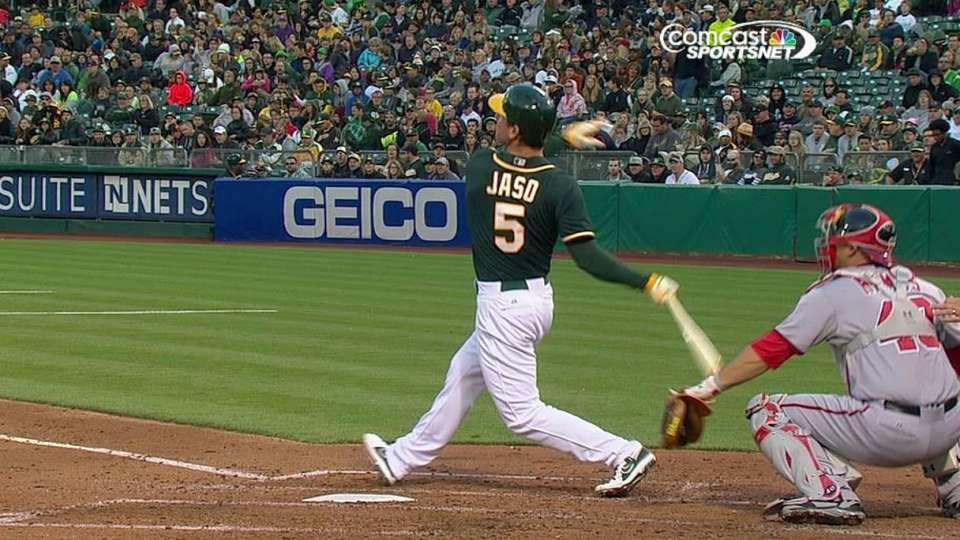 Jaso's solo home run