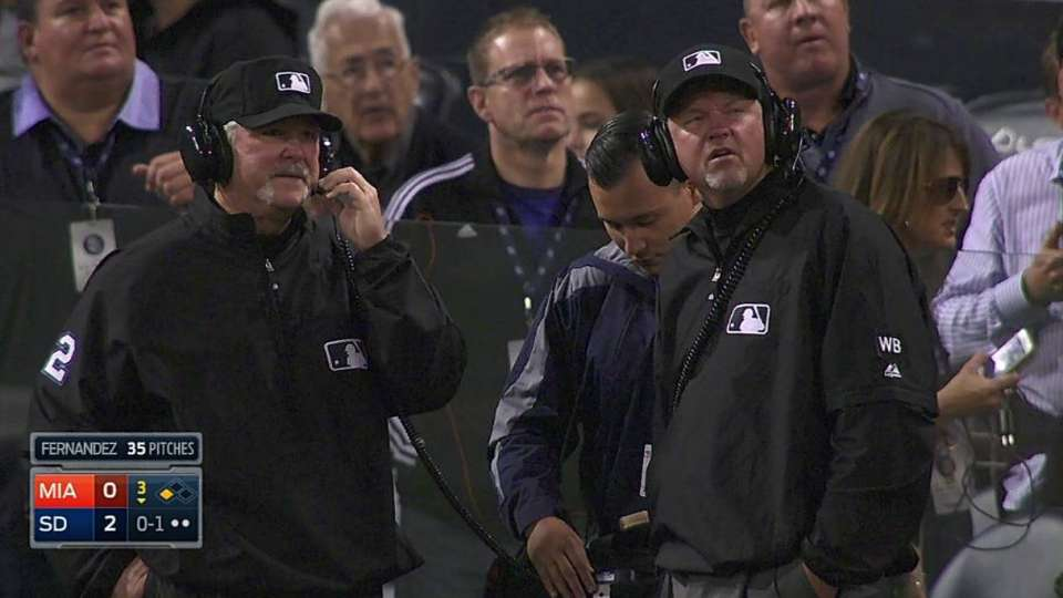 Umpires review hit in the 3rd