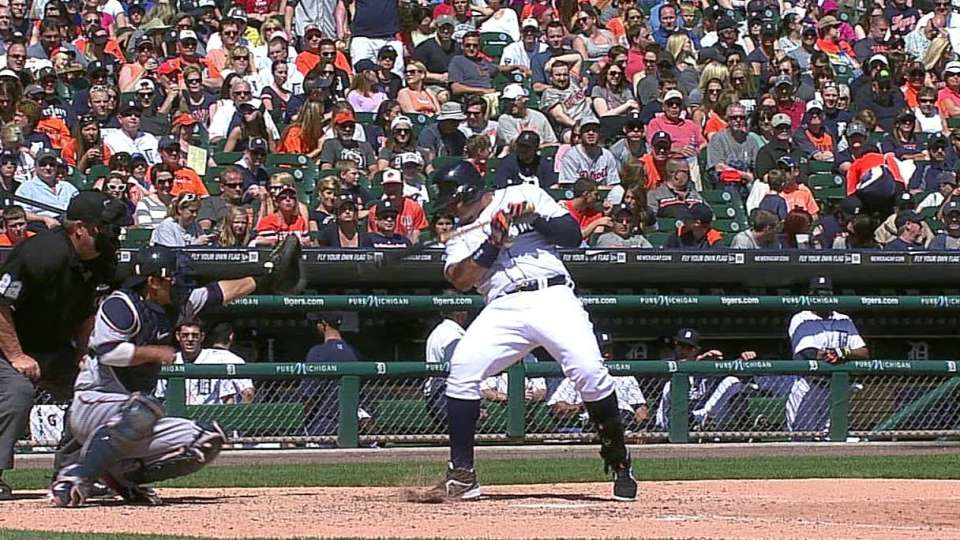 Miggy hit by pitch