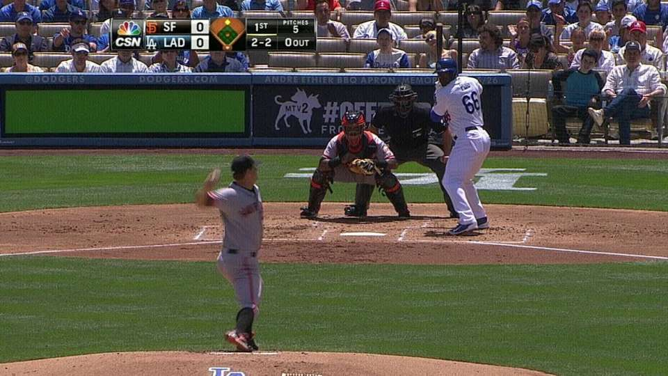 Cain strikes out Puig