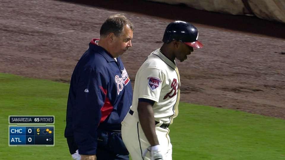 J. Upton injures back, leaves