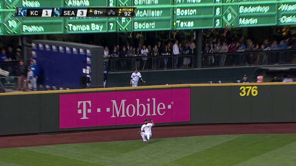 Ackley tumbles on catch