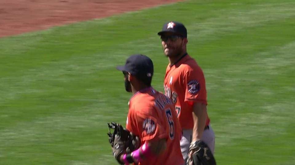 Astros turn two, end inning