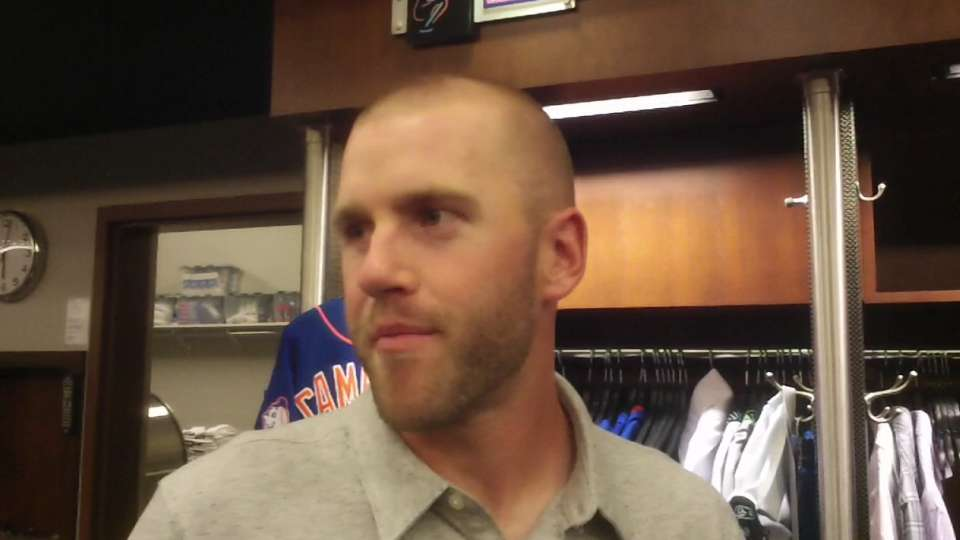Campbell on his first MLB hit