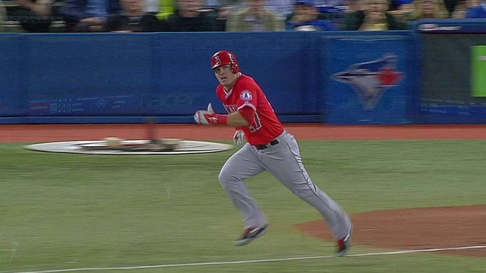 Trout's two-run double