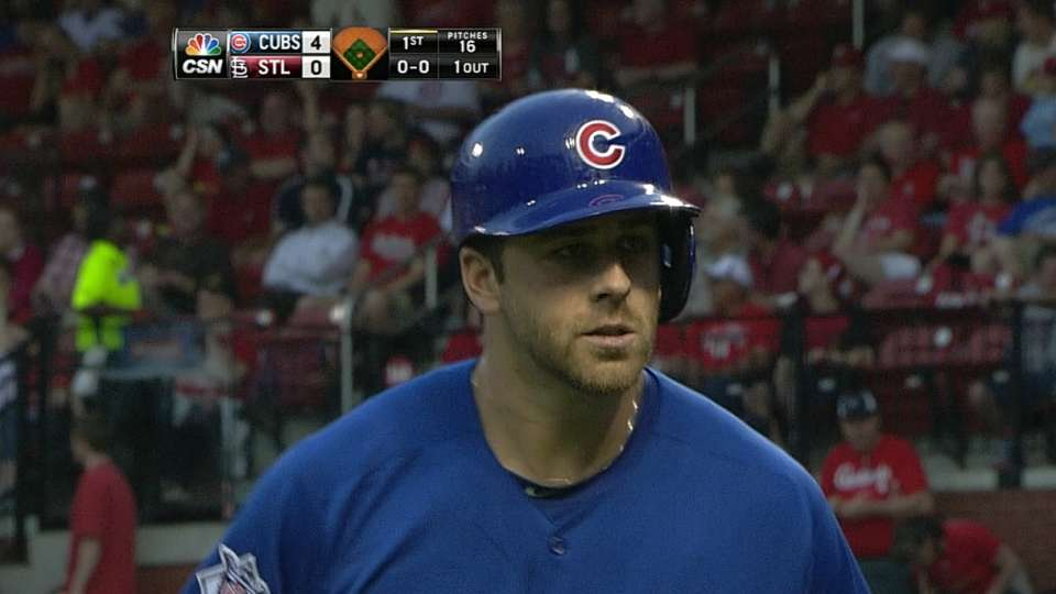 Cubs hit for cycle in 1st