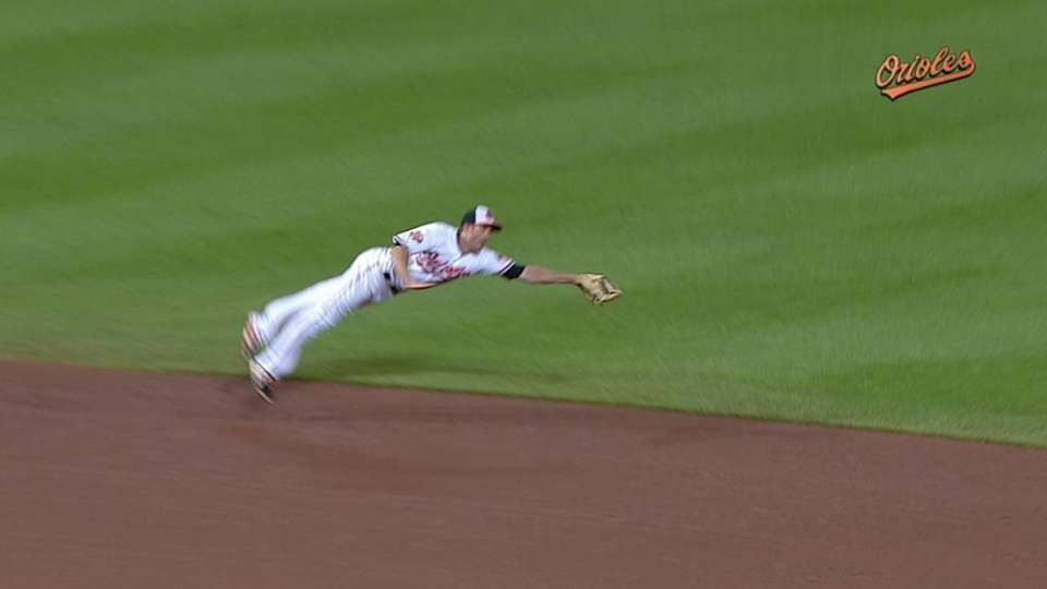 Hardy's diving catch