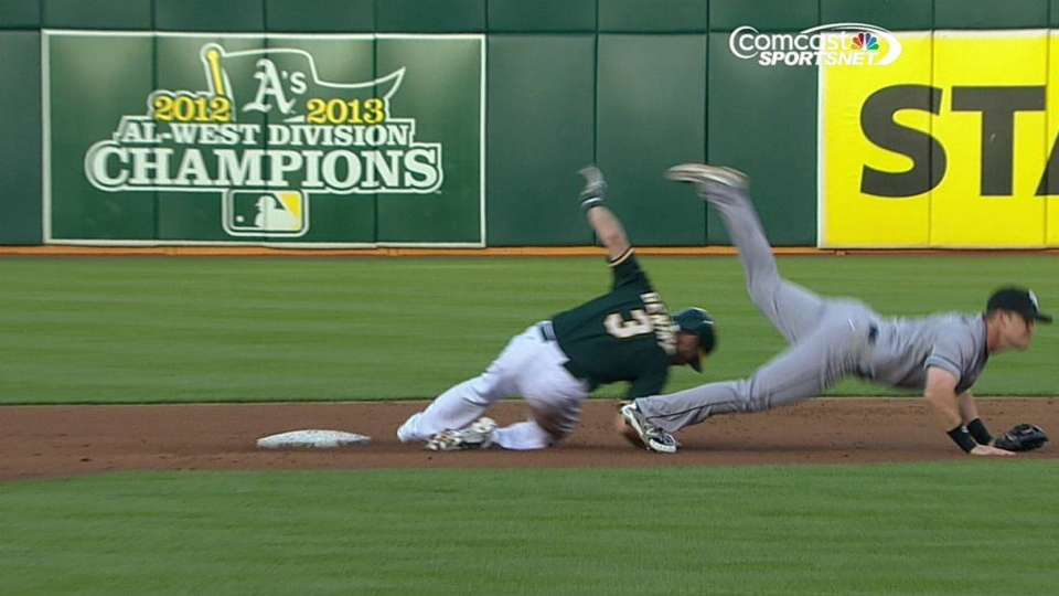 Gentry safe at second