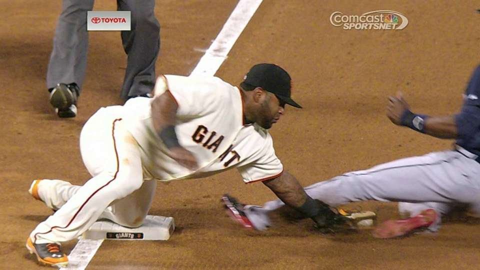 Giants challenge call at third