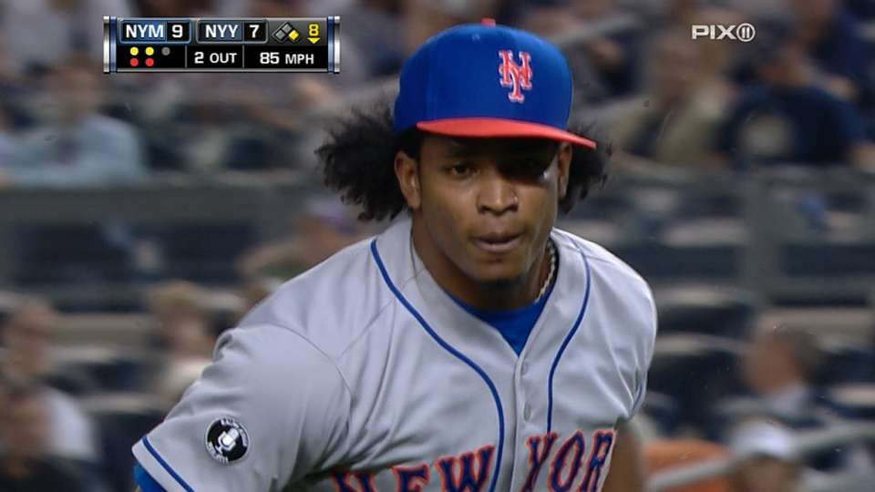 Mejia's first relief appearance