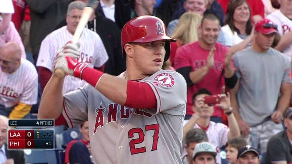 Trout receives ovation