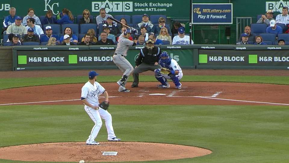 CarGo singles in 14-pitch at-bat