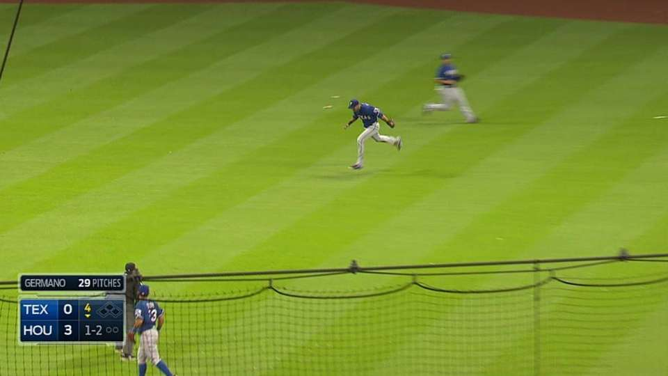 Rios' shoestring catch