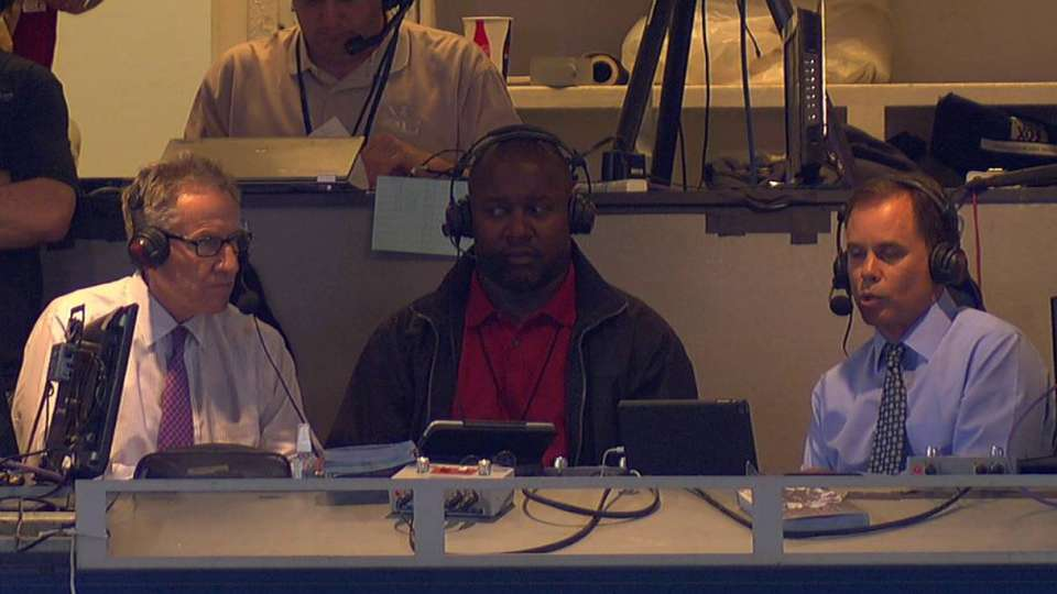 Hill on Fernandez in booth