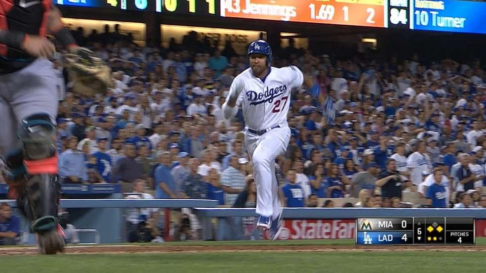 Dodgers' five-run 6th inning