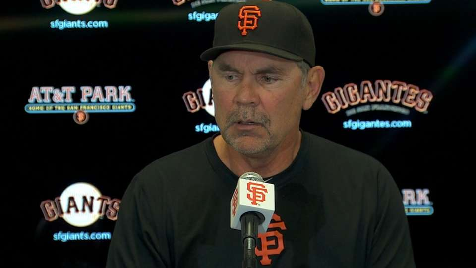 Bochy on loss to Braves