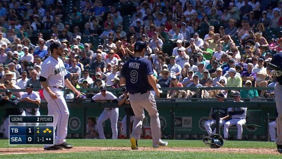 Myers scores on wild pitch