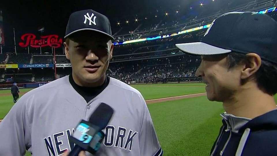 Tanaka on first shutout