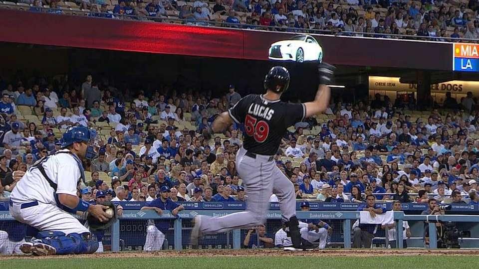 Lucas' bat in crowd