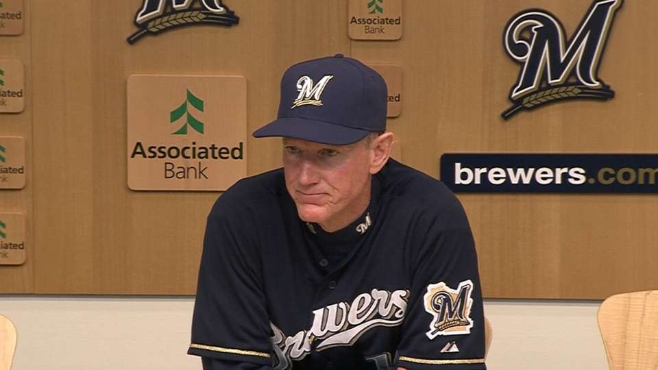 Roenicke on late-inning loss