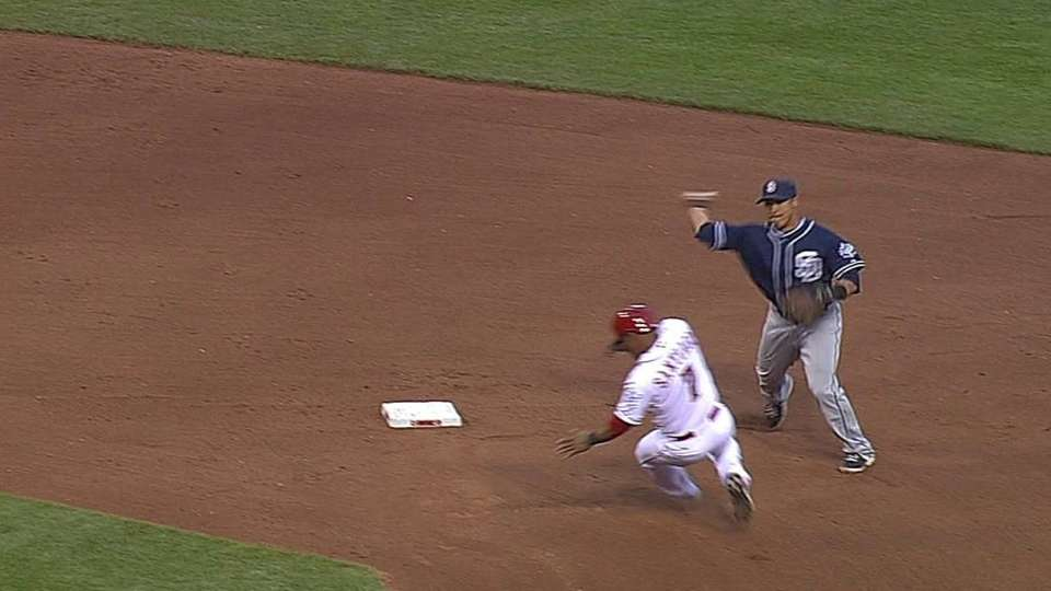 Gyorko's nice stop, double play