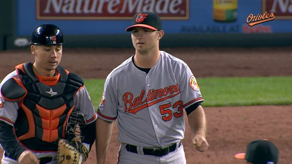 Britton's first career save