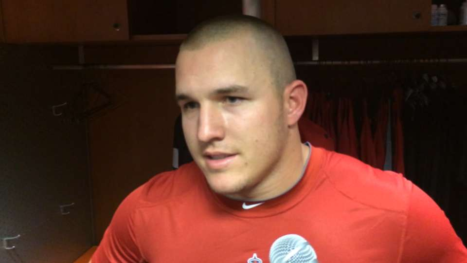Trout on his walk-off home run