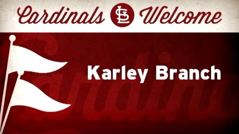 4/28/14: First pitch: K. Branch