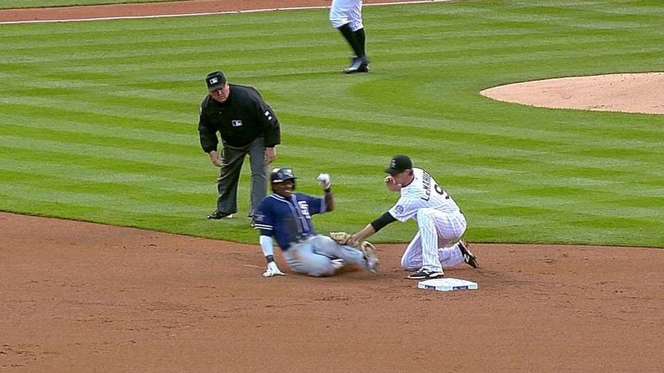 Pacheco catches Maybin stealing