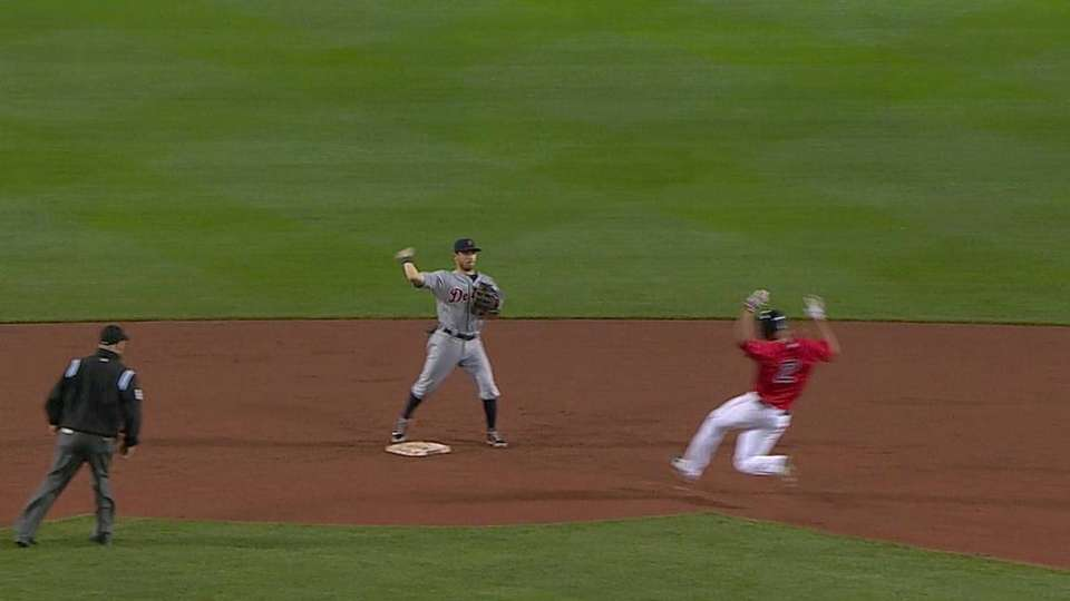 Worth turns a big double play
