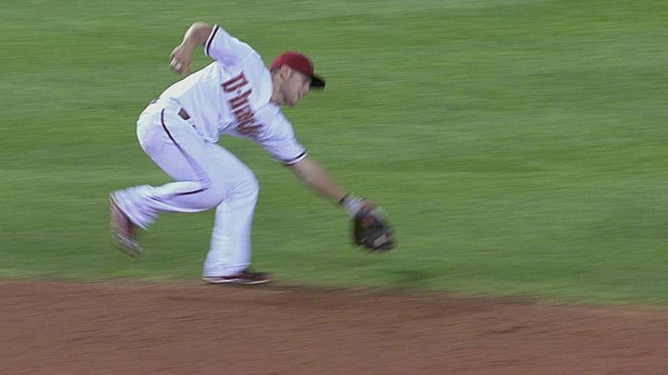 Owings' strong throw