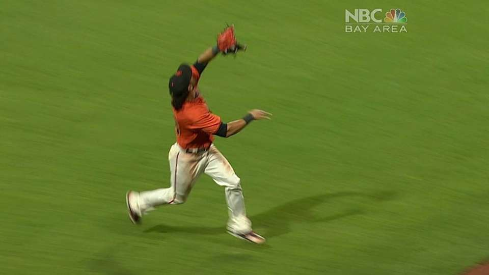 Pagan makes an outstanding catch