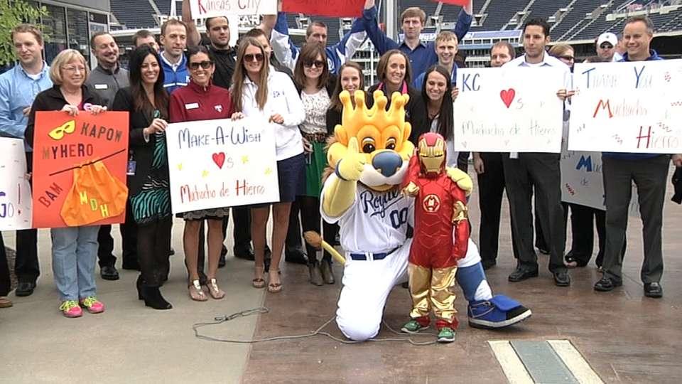 Royals fulfill young hero's wish