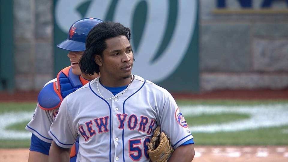 Mejia earns first save