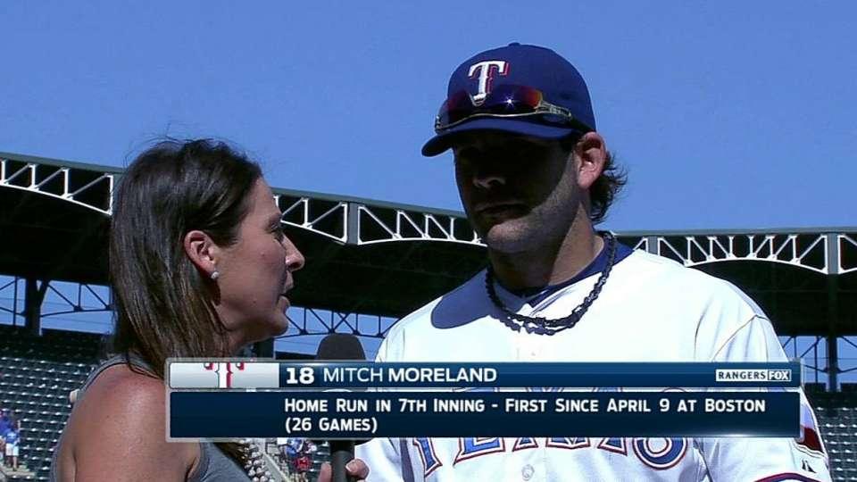 Moreland on Rangers' win